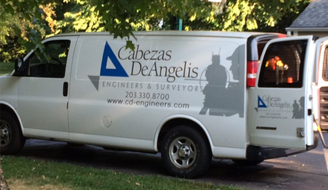 Cabezas-DeAngelis Engineers & Surveyors Van